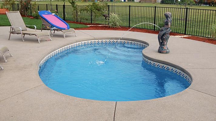 All American Pool Company Kidney Model Trilogy Pools