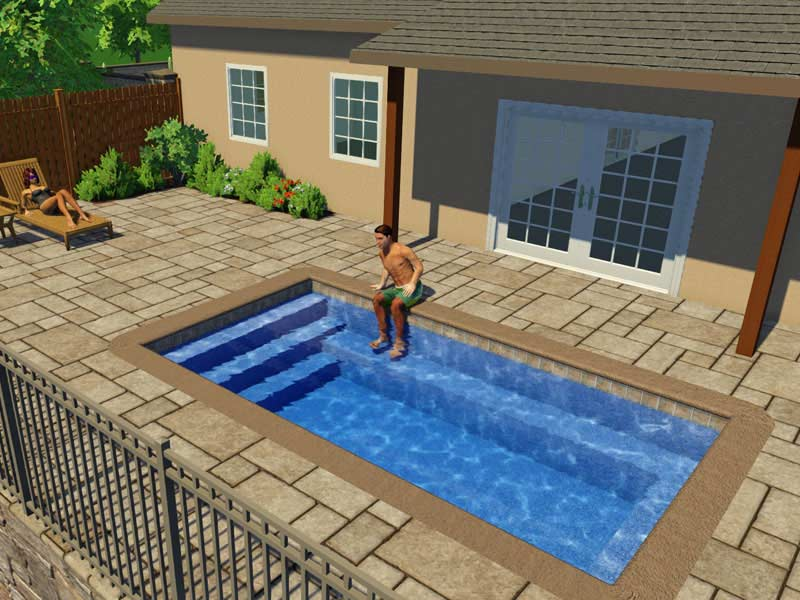 All American Pool Company Rectangle Model Trilogy Pools From The Swimming Pool Builder For Mid Ohio Valley And Surrounding Areas