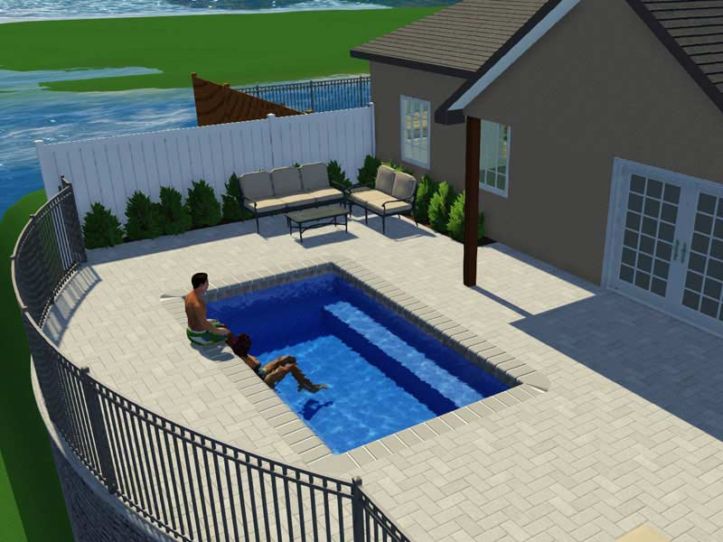 All American Pool Company - Rectangle Model Trilogy Pools from the ...